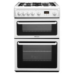 Hotpoint HAG60P White Twin Cavity Cooker