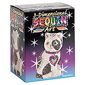 3D Sequin Art Cat