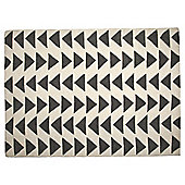 Triangle Wool Rug 160 x 230cm, Grey