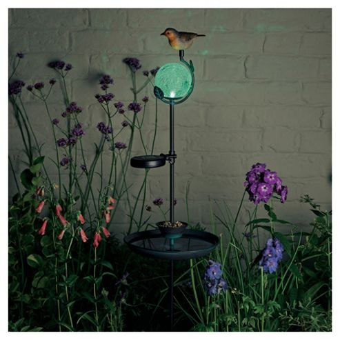 Solar Decorative Birdfeeder Stake Light