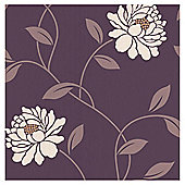 Dulux Camille Wallpaper, Mulberry