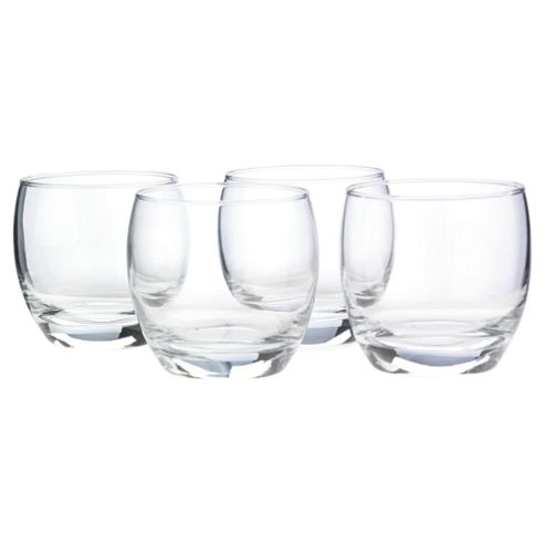 Tesco Mixer Glass, 4 Pack