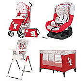Tiny Tatty Teddy Red & White Bundle Deal - Buy all 4 and save £100