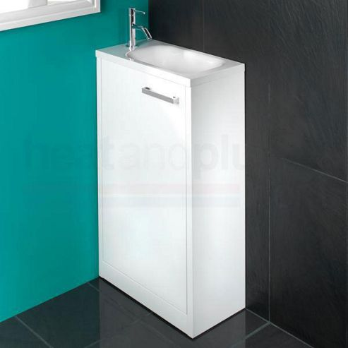 Buy hib solo floor standing white gloss bathroom furniture for Floor standing bathroom furniture