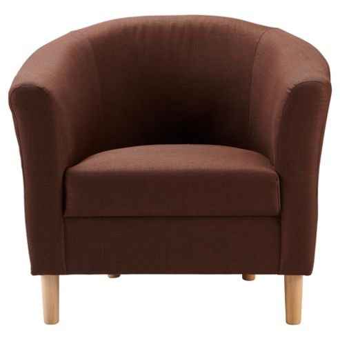 Tub Fabric Accent Chair Chocolate