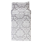 Regency Damask Single Duvet Grey