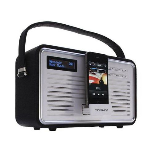ViewQuest Retro DAB Radio and iPhone/iPod Dock - Black