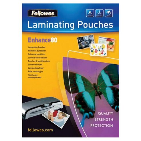 Fellowes A3 Laminator Pouches 80 Micron 25 pack