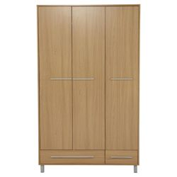 Riva Triple Wardrobe, Oak-Effect