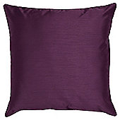 Tesco Set Of 2 Faux Silk Cushions, Plum