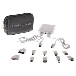 Kit Power Junkie Emergency Charger with 2 USB Cables + 10 Tips Universal