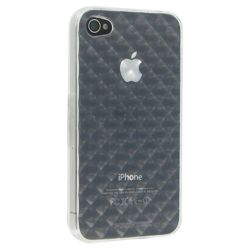 Pro-Tec Quilted Glacier Silicone Case for Apple iPhone 4/4S - Clear
