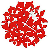 Acctim Butterflies Wall Clock Red