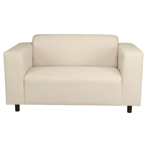 Stanza Fabric Small Sofa Natural