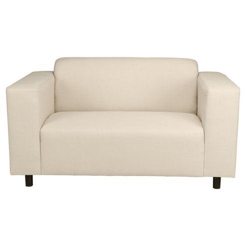 Stanza Fabric Small 2 seater  Sofa Natural
