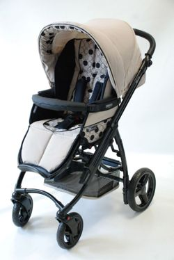 Bebecar Ip-Op black Pushchair Parchment
