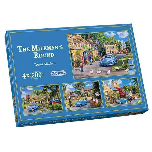 Milkmans Round 4X500 Pieces Jigsaws