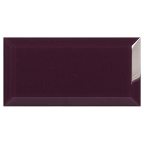 Glass Metro Tile (20X10Cm) Amethyst