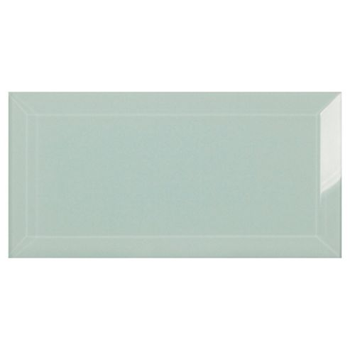 Glass Metro Tile (20X10Cm) Off White