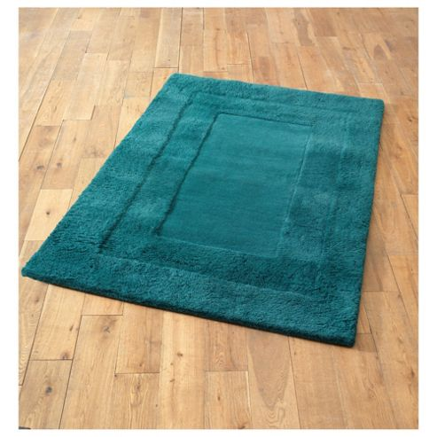 Tesco Rugs Tiered wool rug teal 150x240cm