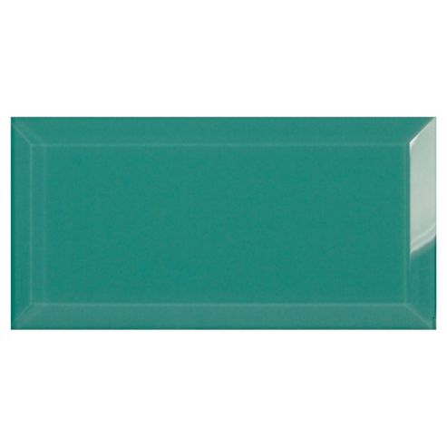 Glass Metro Tile (20X10Cm) Teal