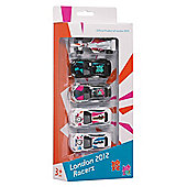 London 2012 Olympics Team GB Racers Die Cast Cars 5pk