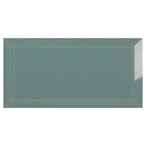 Glass Metro Tile (20X10Cm) Light Blue