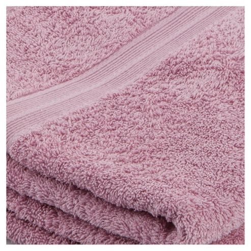 Tesco Bath Towel Pair Pink