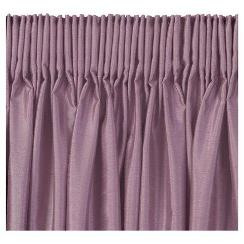 Tesco Faux Silk Lined pencil pleat Curtains W163xL183cm (64x72