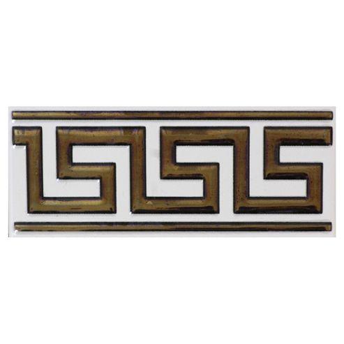 Elegant Key Greek Border Ceramic Tile