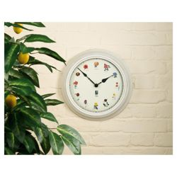 RHS Outdoor Clock British Garden Flora