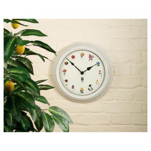 RHS Outdoor Clock British Garden Flora