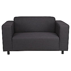 Stanza Fabric Small 2 seater  Sofa Charcoal