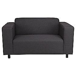 Stanza Fabric Small 2 seater  Sofa Charcoal