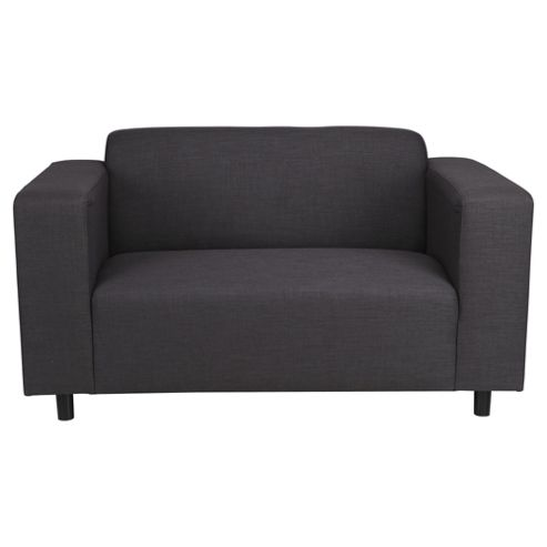 Stanza Fabric Small Sofa Charcoal