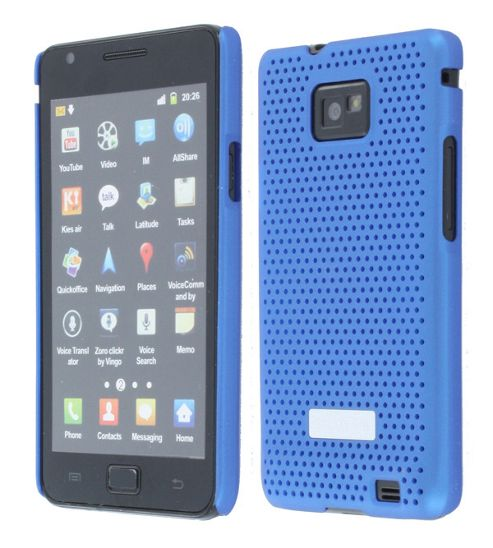 Samsung Metal Look Case Samsung Galaxy SII Blue