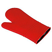 Tesco Silicone Oven Glove Waterproof Red