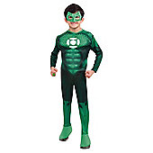 Deluxe light up Hal Jordan muscle chest Green Lantern,L 8-10 years