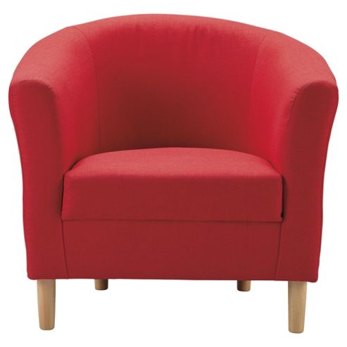 Tub Fabric Accent Chair Red