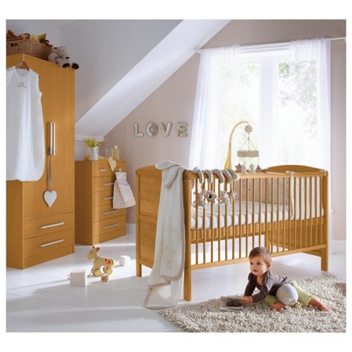 Saplings Larrisa 3 Piece Nursery Room Set, Antique