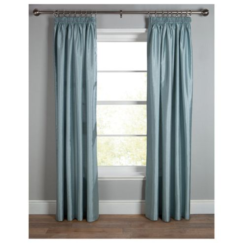 Tesco Faux Silk Lined pencil pleat Curtains W112xL137cm (44x54