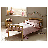 Saplings Junior Bed in a Box, Pink Hearts (Includes bed, mattress, quilt, pillow, pillow case & duvet cover)