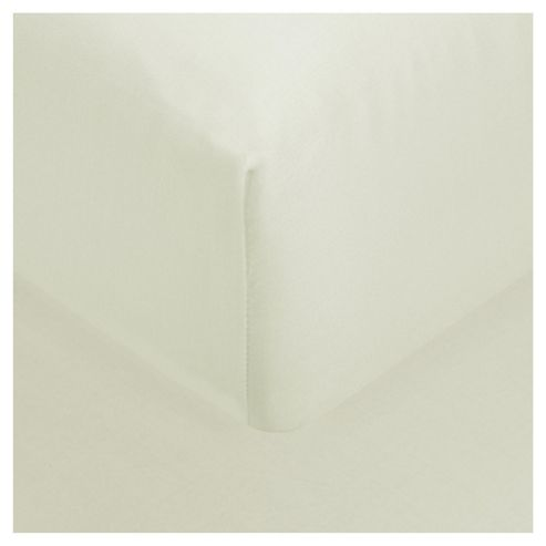 Finest Pima Cotton Fitted Sheet Double Ivory