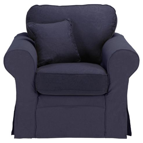 Louisa Loose Cover Only for Armchair Jaquard, Navy