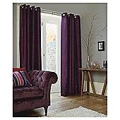 Tesco Faux Silk Lined Eyelet Curtains - Plum