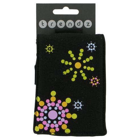 Trendz Phone Pouch Retro Circles Universal Black