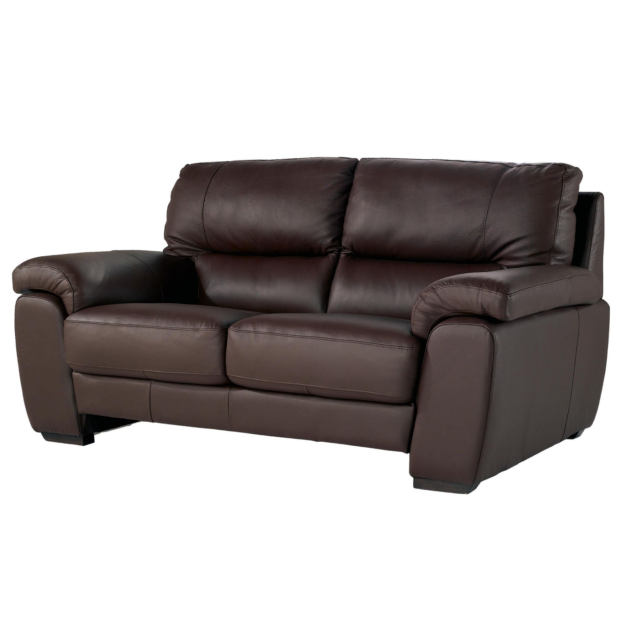 Alfredo Small Leather Sofa Cognac at Tesco Direct