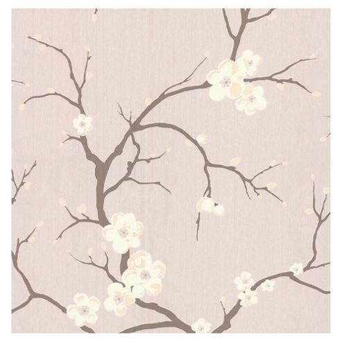 Dulux Blossom Wallpaper, Rose