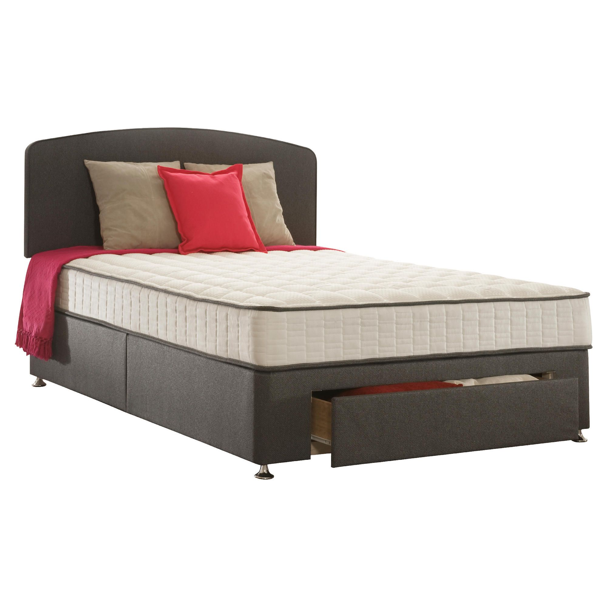 Sealy Pure Finesse Double 1 Drawer Divan Bed at Tescos Direct