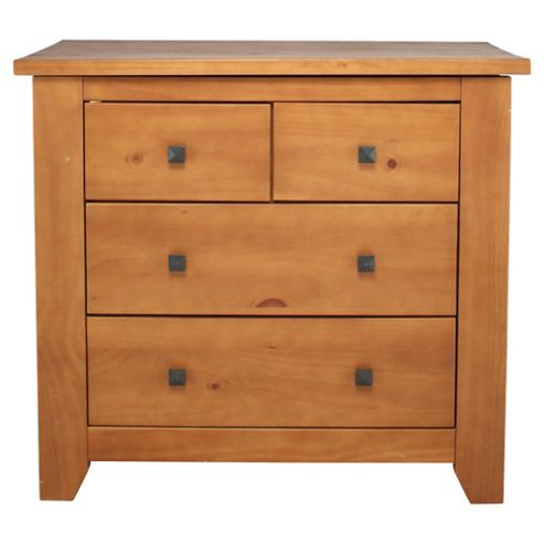 Suffolk 4 Drawer Chest, Solid Pine